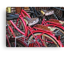 Twins - Bicycle Art By Sharon Cummings Canvas Print