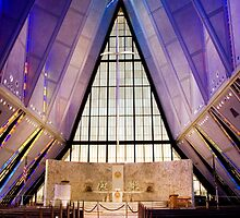 Air Force Academy Cadet Chapel (Interior 2) by WestbrookArts