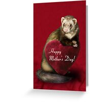 Mother's Day Ferret Greeting Card