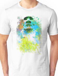 moai in green Unisex T-Shirt