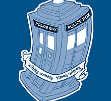 Doctor Who Tardis Geeky Love by rebecca-miller