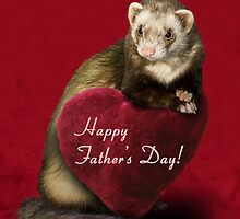 Father's Day Ferret by jkartlife