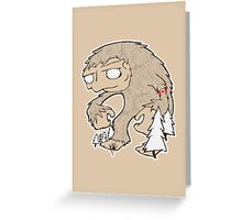 Sasquatch Friend Greeting Card