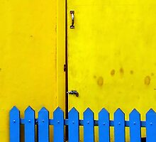 Blue Gate Yellow Door by paintingsheep