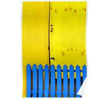Blue Gate Yellow Door Poster