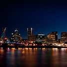 Portland Skyline by Lee LaFontaine