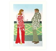 Emma Stone & Ryan Gosling from Gangster Squad Typography Design of Their Conversation Art Print