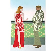Emma Stone & Ryan Gosling from Gangster Squad Typography Design of Their Conversation Photographic Print