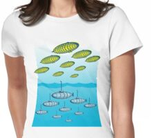 Above and Below Womens Fitted T-Shirt