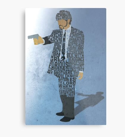 Jules from Pulp Fiction Typography Quote Design Metal Print
