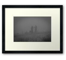 Fishing one misty morning Framed Print