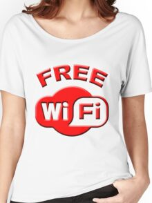 FREE WI FI Women's Relaxed Fit T-Shirt