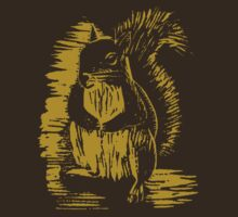 Gold Squirrel by GryffinDesigns