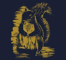 Gold Squirrel One Piece - Short Sleeve