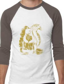 Gold Squirrel Men's Baseball ¾ T-Shirt