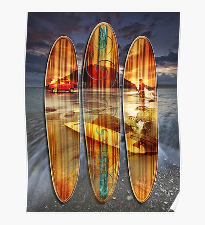 Mauao Wave Riders Poster
