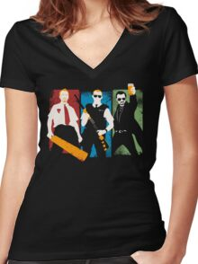 Blood and Ice Cream  Women's Fitted V-Neck T-Shirt