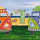 Kombi Camp no. 1 by Lisa Frances Judd~QuirkyHappyArt