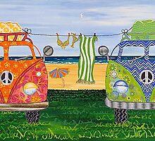 Kombi Camp no. 1 by Lisa Frances Judd~QuirkyHappyArt