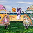 Kombi Camp no. 2 by Lisa Frances Judd~QuirkyHappyArt
