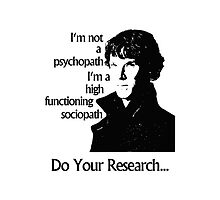 Sherlock High Functioning Sociopath Phone Case by hypergeekstuff