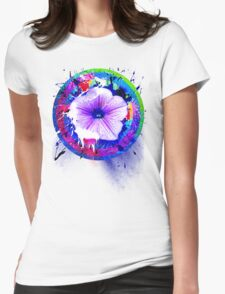 project Flower Womens Fitted T-Shirt