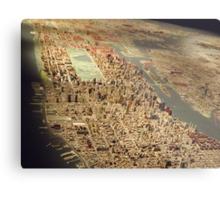 New York City Panorama, Scale Model of New York City, Queens Museum, Queens, New York  Metal Print