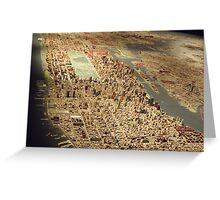 New York City Panorama, Scale Model of New York City, Queens Museum, Queens, New York  Greeting Card