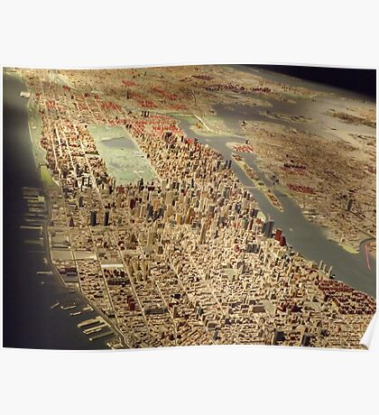 New York City Panorama, Scale Model of New York City, Queens Museum, Queens, New York  Poster