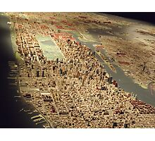 New York City Panorama, Scale Model of New York City, Queens Museum, Queens, New York  Photographic Print