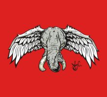 Flying Pachyderm Baby Tee