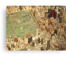 Central Park South, New York City Panorama, Scale Model of New York City, Queens Museum, Queens, New York  Canvas Print