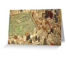 Central Park South, New York City Panorama, Scale Model of New York City, Queens Museum, Queens, New York  Greeting Card