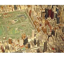 Central Park South, New York City Panorama, Scale Model of New York City, Queens Museum, Queens, New York  Photographic Print