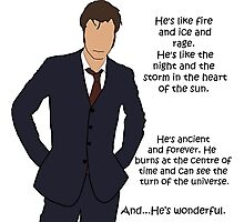 Doctor Who - Fire and Ice and Rage Photographic Print