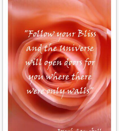 Follow your Bliss Sticker