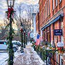 Litchfield Storefronts in Winter by Timothy Borkowski