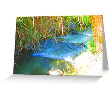 """""""Canyon Stream"""" by Carter L. Shepard Greeting Card"""