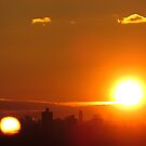 Two suns in New York City  by Alberto  DeJesus