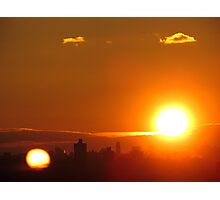 Two suns in New York City  Photographic Print