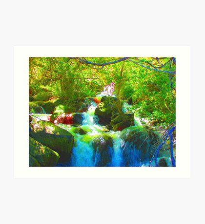 """""""Canyon Falls"""" by Carter L. Shepard Art Print"""