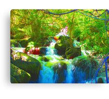 """Canyon Falls"" by Carter L. Shepard Canvas Print"