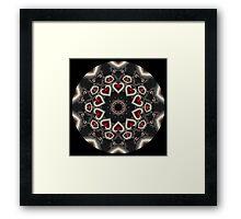 Heart Blast Kaleidoscope Framed Print
