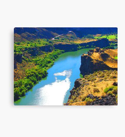 """Snake River Canyon"" by Carter L. Shepard Canvas Print"