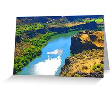 """Snake River Canyon"" by Carter L. Shepard Greeting Card"
