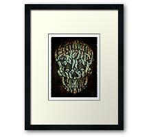 The 7 Sins Skull Framed Print