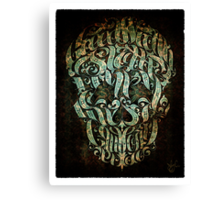 The 7 Sins Skull Canvas Print