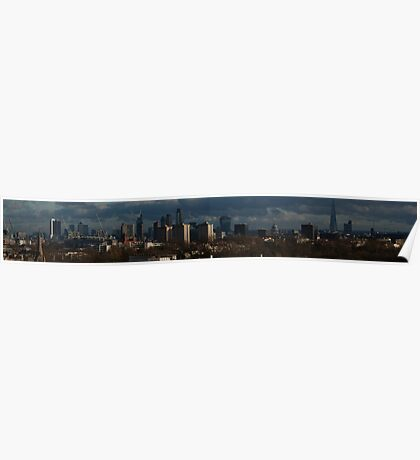 this is a huge long panorama of  London  Poster