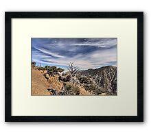 Sky Meets Mountain Peaks Framed Print
