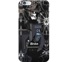 Broken  rupture  damaged  cracked black apple iPhone Case/Skin